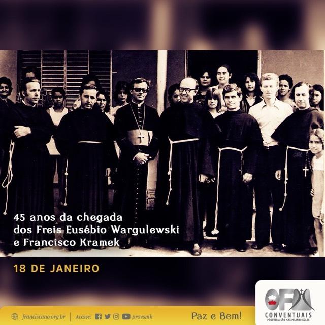 45 anos da chegada dos Freis Kramek e Eusébio ao Brasil